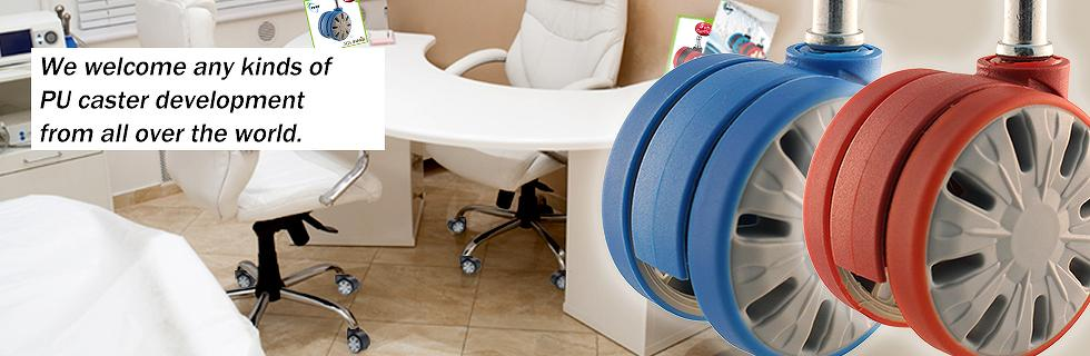 PU casters wheels smoothness and Quietness​
