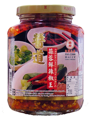 FRESH CHILI WITH GARLIC,agricultural foods chili sauce,
