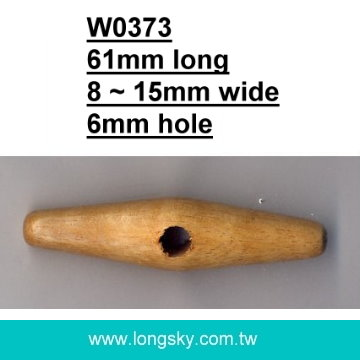 (#W0373) fashion one hole wooden toggle for winter coat,apparel  accessories button