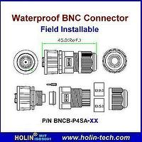 Waterproof BNC Connector used for Coaxial Cable