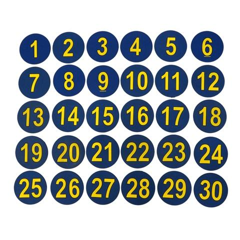 1-30number round mark mat