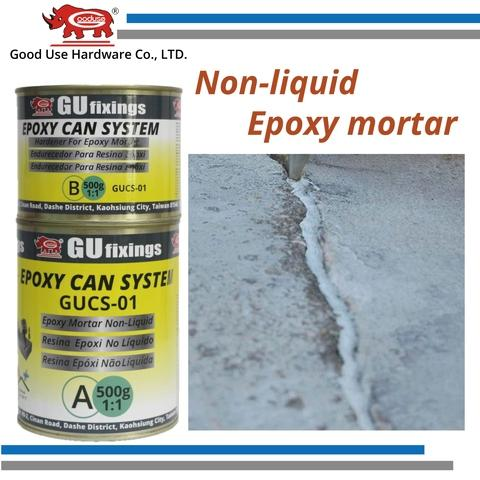 adhesive fixing system, repair crack, grout hole