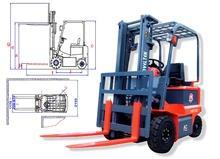 NOVELTEK Four Wheels Electric Forklift Truck 2.5 Tons