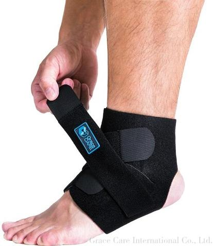 Ankle Brace with Elastic Straps for Sports and Sprains
