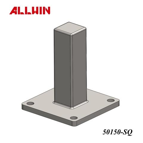 No Welding Require Surface Mounted Square Post Base Plate