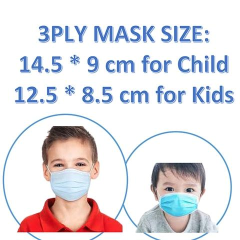 Different size for Children Disposable Face Mask