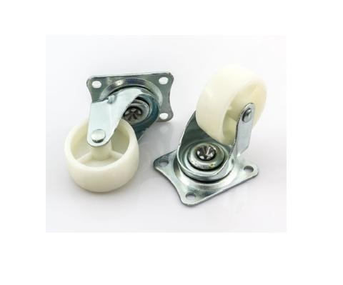 Caster, Wheel  From plastic to rubber