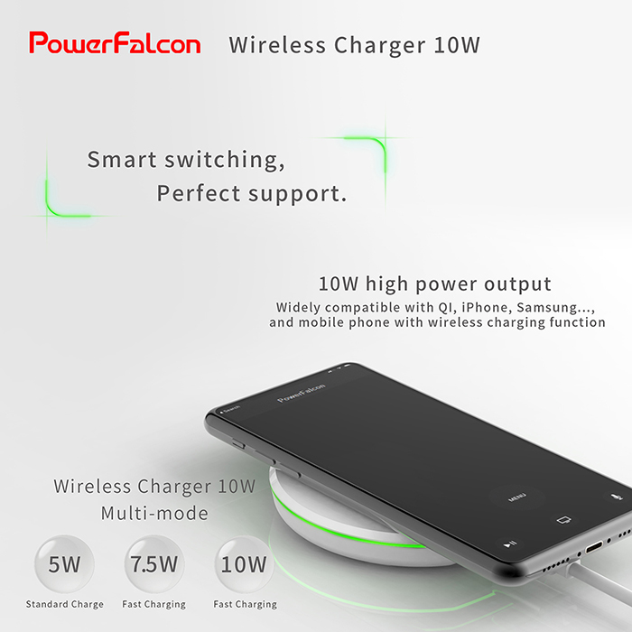 Taiwan PowerFalcon 5W 7 5W 10W Wireless Charger PS1000-B