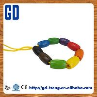 25*8mm Flat Round Wooden Disc Beads-10 colors