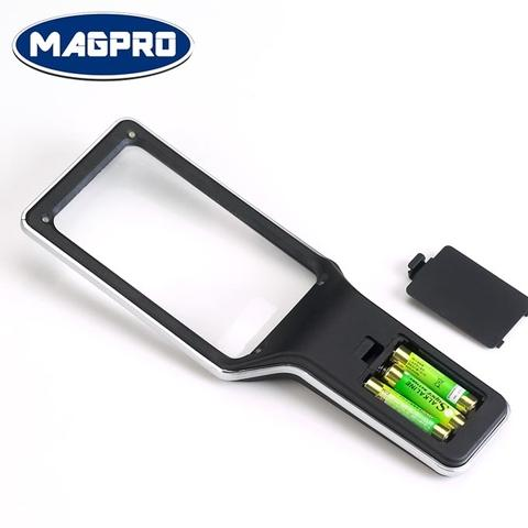 LED Handheld Magnifying Glass powered by 3 AAA batteries