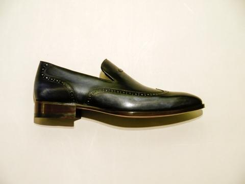VANOL SQ153 Tassel Loafer - Midnight Blue - Outter Lateral