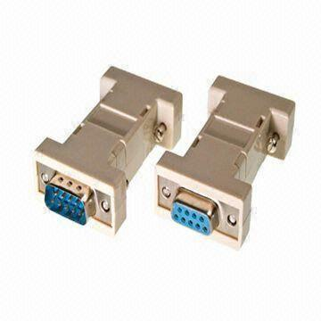 D-Sub Connectors with Null Modem DB9 Male to DB9 Female Adapter, Available in Various Interfaces