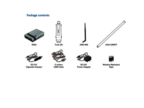 Alfa WiFi Camp Pro 2 long range WiFi repeater kit R36A//Tube- U N//AOA-2409TF Ant
