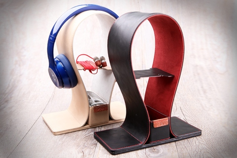 Universal Leather Headphone Stand
