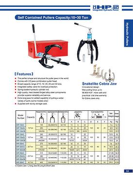 Broad Capacity Hydraulic Puller with Superior Reliability