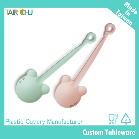 Colorful Plastic Bear Spoon
