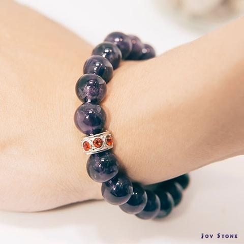 10mm Amethyst Bracelet Beaded Gemstone
