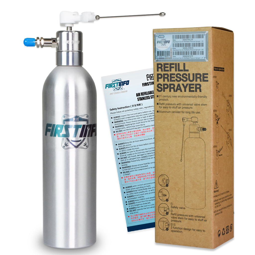 Aluminum Can Air Pneumatic Refillable Pressure Sprayer