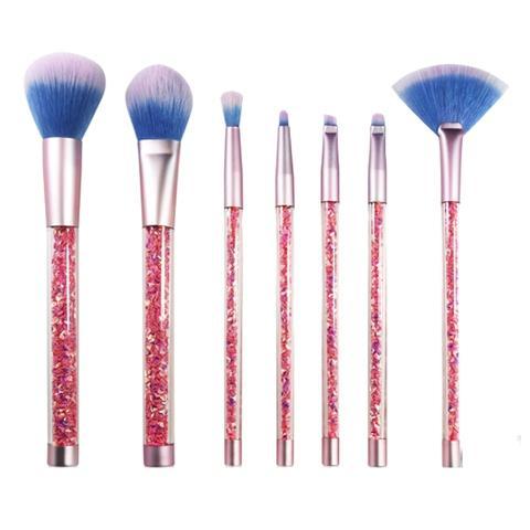 crystal handle cosmetic brush makeup brush set