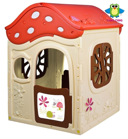 OT-14 mushroom play house with two door and window- toy
