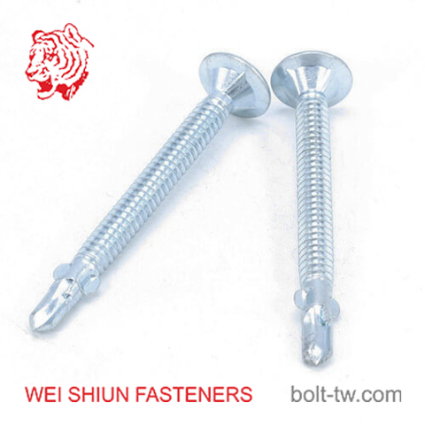 self drilling flat head screw