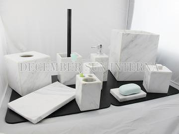 Taiwan wholesale hotel balfour stone marble bathroom for Marble bathroom accessories