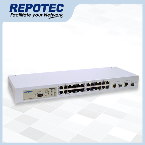 24*Fast Ethernet + 2G(1000T/SFP) Ports  L2+ Managed Switch