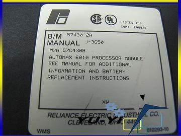 taiwan reliance electric automax 6010 processor module 57c430b 57c rh taiwantrade com  reliance automax manual