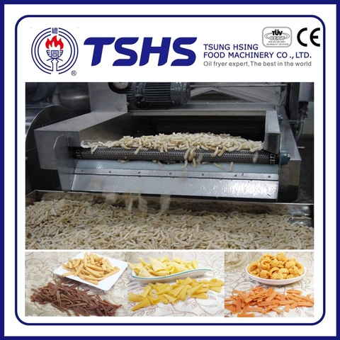 Made in Taiwan Commercial Pellet chips Frying Line