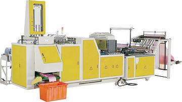 FULLY AUTOMATIC HIGH-SPEED CUTTING & SEALING ,3 FOLDING AND AUTO PACKING MACHINE BY SERVO MOTOR CONTROL