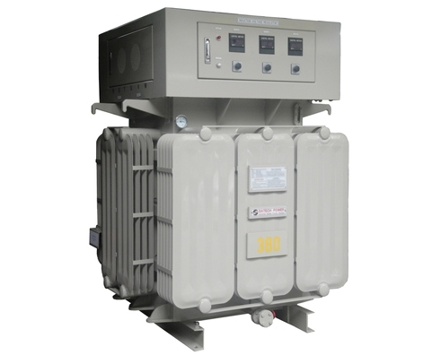 Heavy Duty Inductive Voltage Regulator, Oil-immersed Cooling type, Induction type Voltage Stabilizer & Regulator, Oil Immersed Voltage Stabilizer, no contact point AVR, magnetic induction motor design AVR