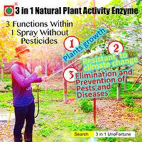 3 functions Within 1 spray Without pesticides