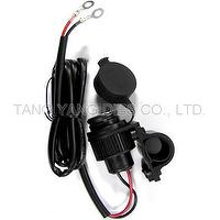 Cigarette Socket with 1015-18AWG Cable and Bracket for Motorcycle, ATV use