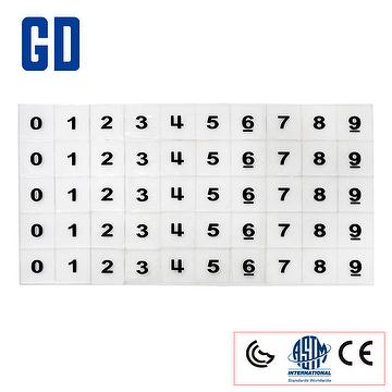 50pcs OH Number Tiles