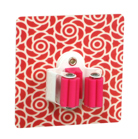 Reusable Wall Type Tool /Mop Holder (Pink)
