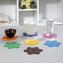 Flower modeling Heat Resistant Rubber Mat (S)