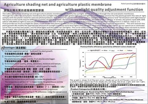 SpectralX Agriculture shading net