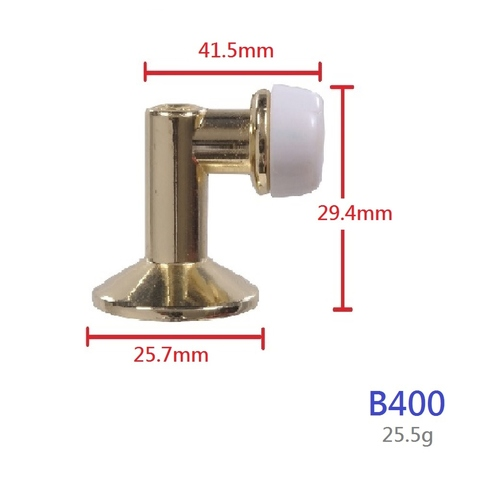 Brass Floor Mounted 90 Degree Angled Rubber Door Stop