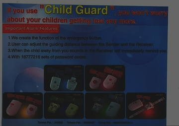 Taiwan PERSONAL ALARM/CHILD GUIDECG-11/CG-18 | Taiwantrade