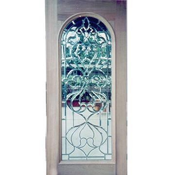 Taiwan French Door, Entrance, Entry Door, Leaded, Glass, Beveled,  Decorative Door, Transom, Sidelight, Wooden Door, Stained Glass, Panel,  Arch (No 119A) ...