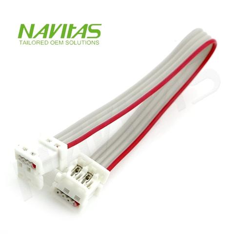 4 pin 2.54 mm IDC Connector Flat Ribbon Cable Assembly