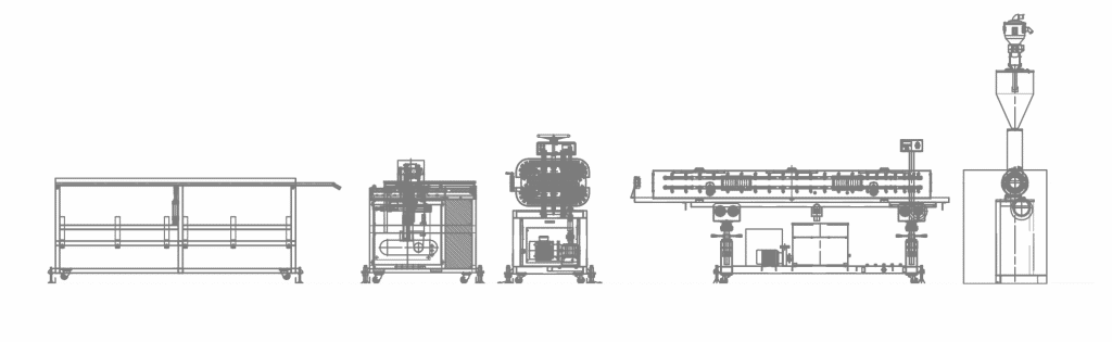 Diamond Net Pipe Machine Line Layout