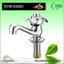 Basin Faucet with Self Closing Cross Handle