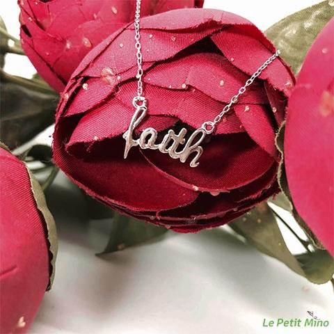 Silver Necklace Faith Pendant