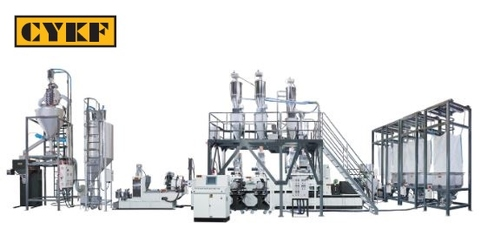 CK-HT Series Co-Rotating Twin Screw Automatic Metering/Weighing/Conveying Pelletizing Compounding Line