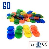 TRANSPARENT COLORED COUNTERS