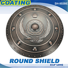 "22.8"" POLYPROPYLENE ROUND SHIELD - COATING"