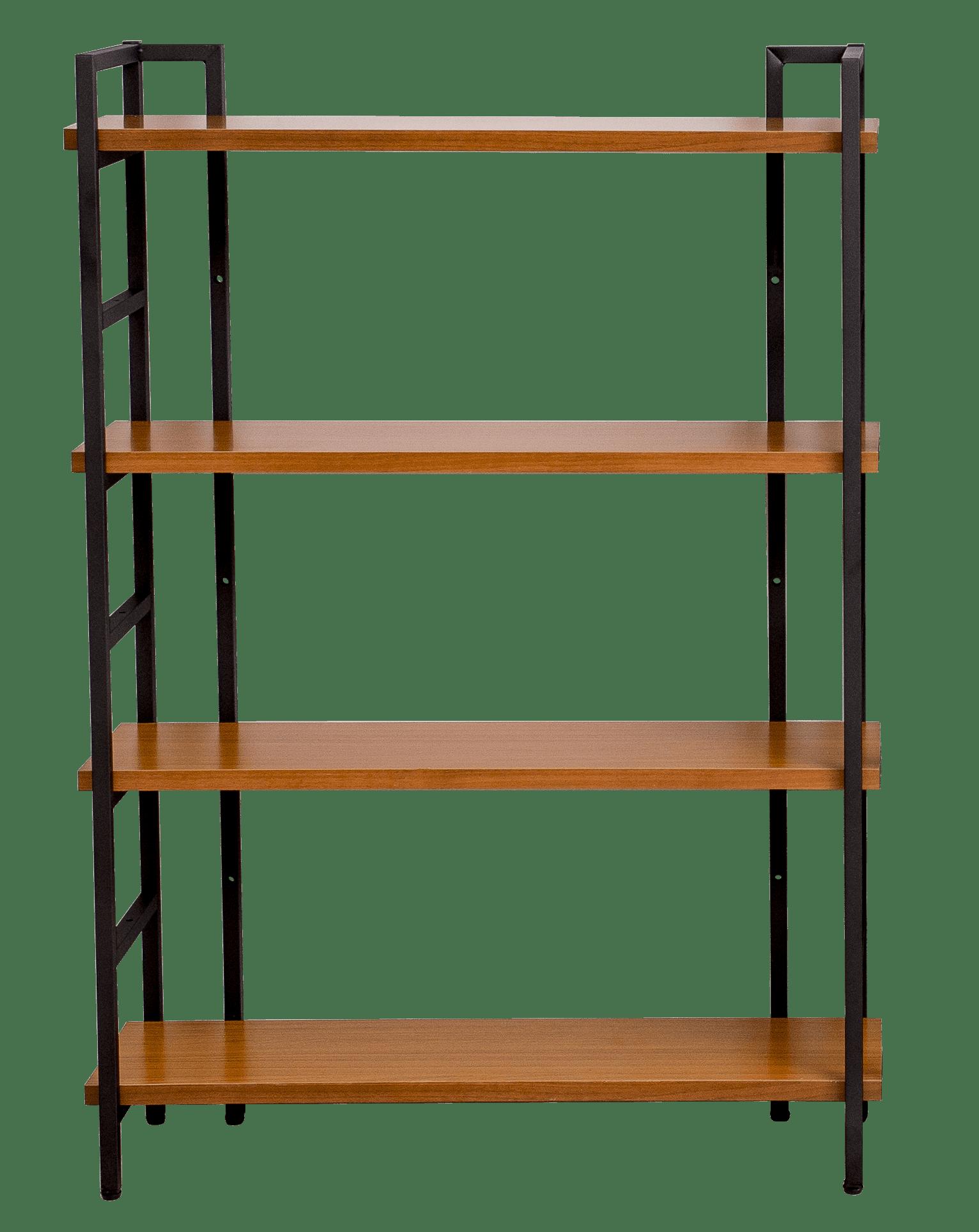 4 Shelf Vintage Beech Industrial Style Bookcase Shin Yi