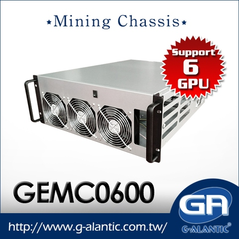 Taiwan GEMC0600 - Maximun Support for 6 GPU Cards Miner Case