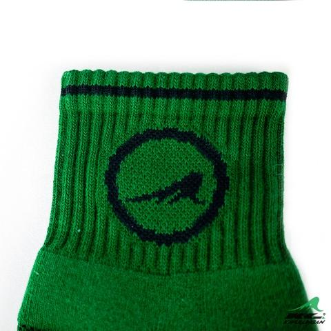 KAVULUNGAN Sport Health Socks Army Green with Black Patterns